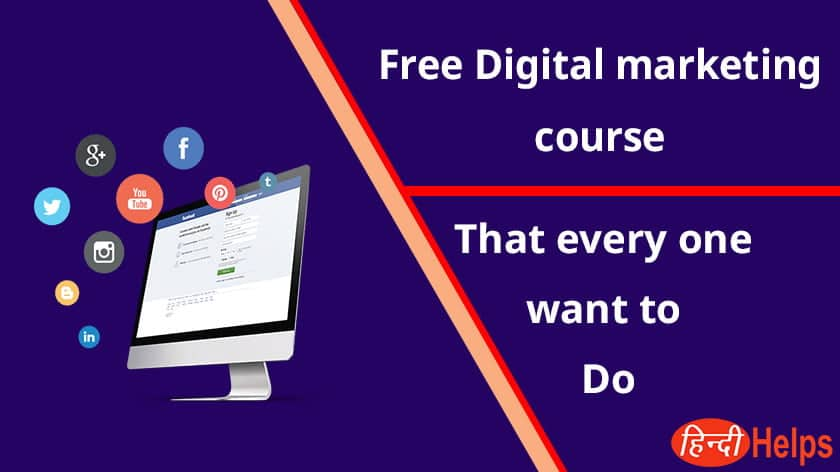 Best Free Digital Marketing Course For Beginner in Hindi