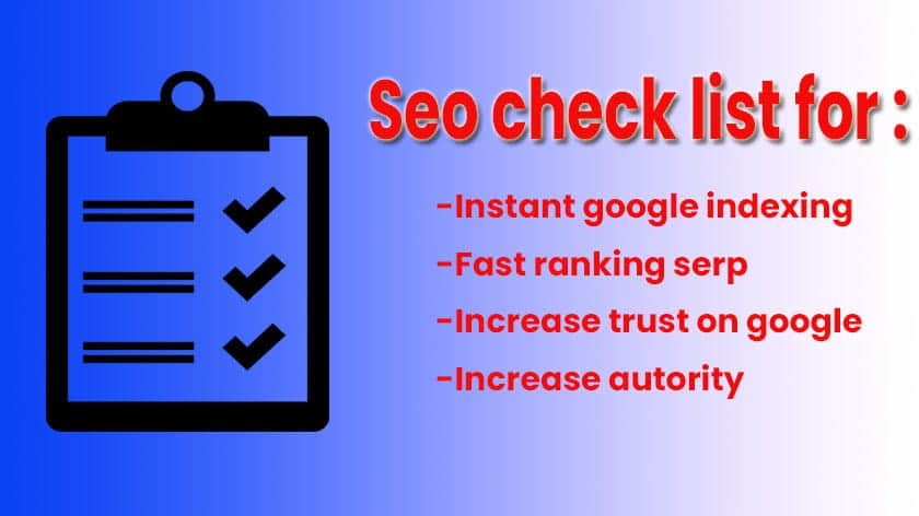 9+ Best SEO Checklist For All Bloggers 2021