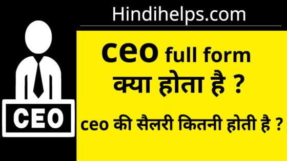 CEO क्या होता है ? CEO Full Form In Hindi