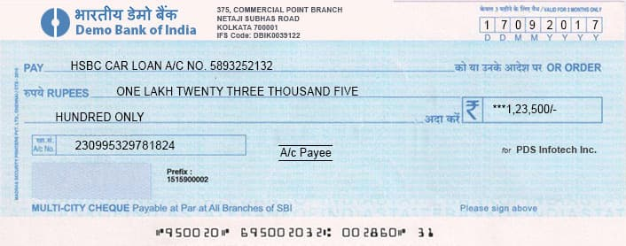 bank cheque kaise bhare