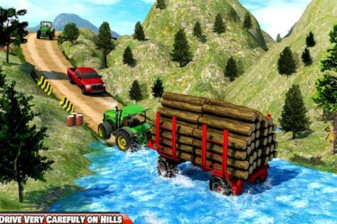Drive Tractor trolley Offroad Cargo